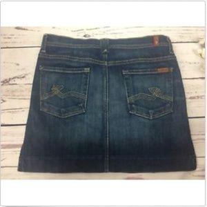 Seven 7 For All Mankind Denim Jeans skirt 28
